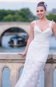 Beaumenay Joannet Paris - Robe de mariée sexy en dentelle et organza