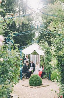 L'Orangerie de Vatimesnil - Cérémonie à la Roseraie