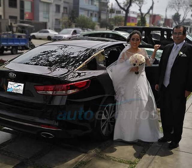 Cynthia el dia de su boda