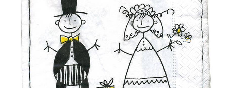 Beispiel: Hochzeitsservietten, Foto: alles Herz.