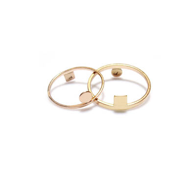 Dualité andine. Or rose 14K & Or jaune 18K