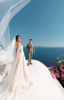 Орест и Зинаида | Греция, о.Санторини Больше наших свадеб http://vanillaskyweddings.ru/portfolio/