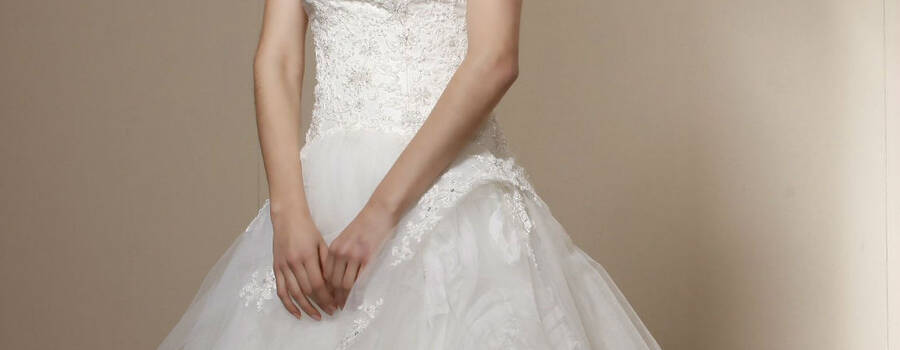 Beispiel: Brautkleid, Foto: Brautstudio Calla.