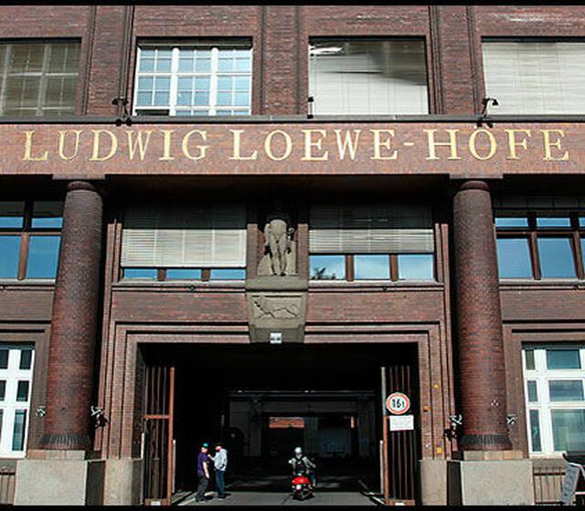 Beispiel: Ludwig Loewe Höfe, Foto: Loewe Saal.