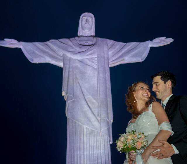 A Hora do Sim - Stephanie e André - Cristo Redentor