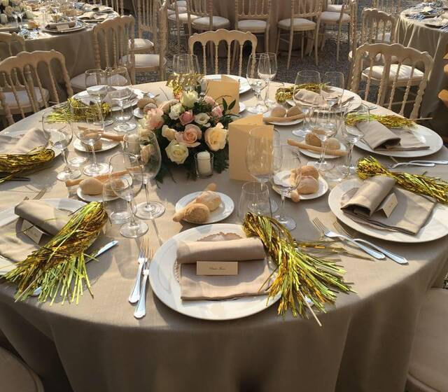 La mise en place I Cucinieri Aerre Banqueting