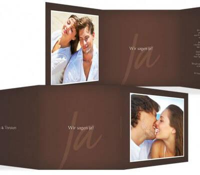 Beispiel: Hochzeitskarten, Foto: Hochzeitskarten- Paradies.