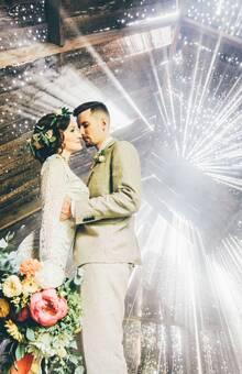 Сказочная свадьба Леши и Насти в самом сердце леса.