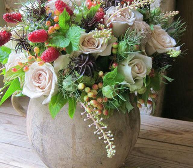 Composition fruits et fleurs - Frédéric Garrigues