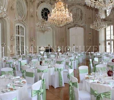 Beispiel: Hochzeitsdekoration, Foto: Märchenhochzeit.