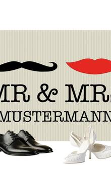 Fußmatte Mr. & Mrs.