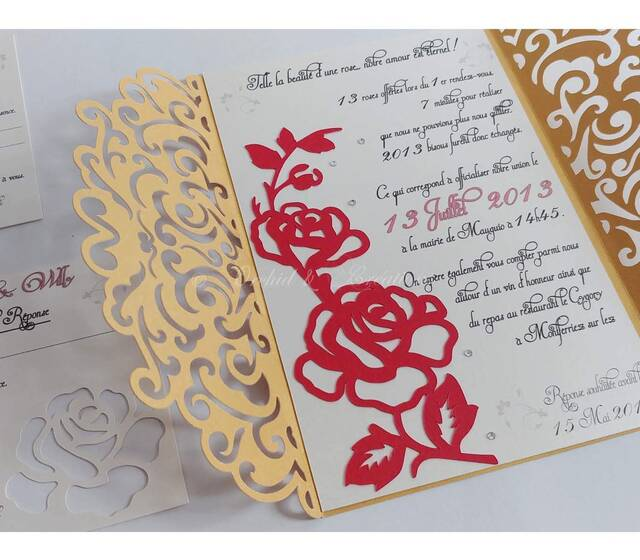 Faire-part Modèle Arabesque - La rose éternelle