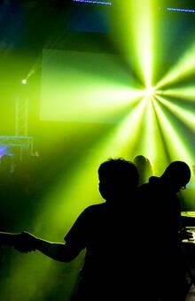 DJ met mooie lichtshow
