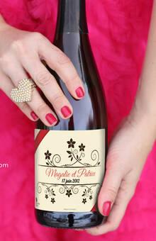 Étiquette personnalisée pour champagne