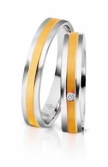Desde 620 euros Alianças Tristão Isolda Dos Santos Jewellery em ouro branco e amarelo e diamente
