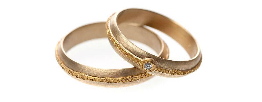 Beispiel: Ringe in Gold mit Diamantbesatz, Foto: Eve & Me.