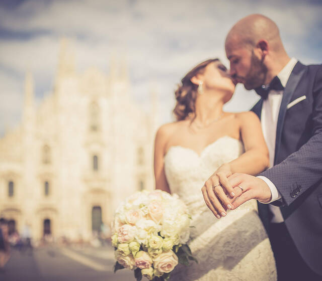 Just Married in Milan