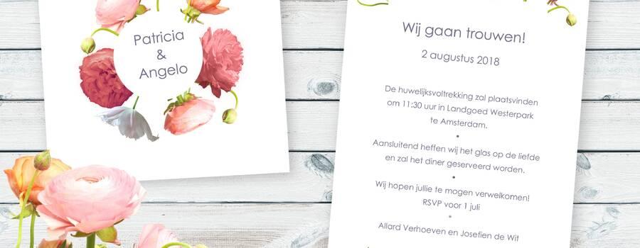 Trouwkaart Ranonkel van JilleJille.nl