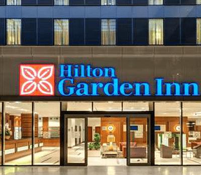 Beispiel: Vorderansicht, Foto: Hilton Garden Inn Frankfurt Airport.