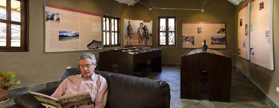 Sala de exposición del Rancho Alpaca