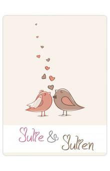 Étiquettes personnalisées modèle mariage oiseaux