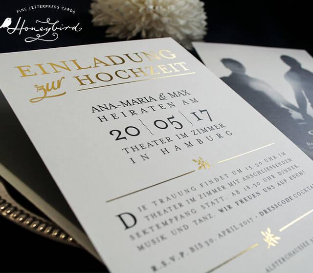 Design Providence, Einladung mit gold