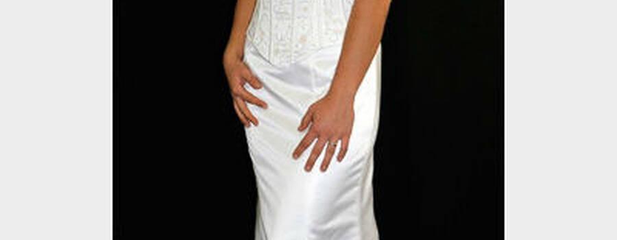 Beispiel: Brautmode, Foto: Textiles Design nach Mass.