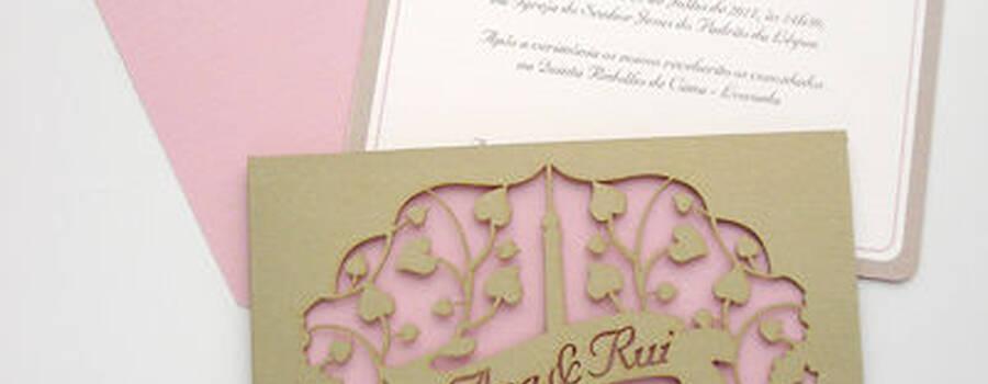 Convites com corte personalizado