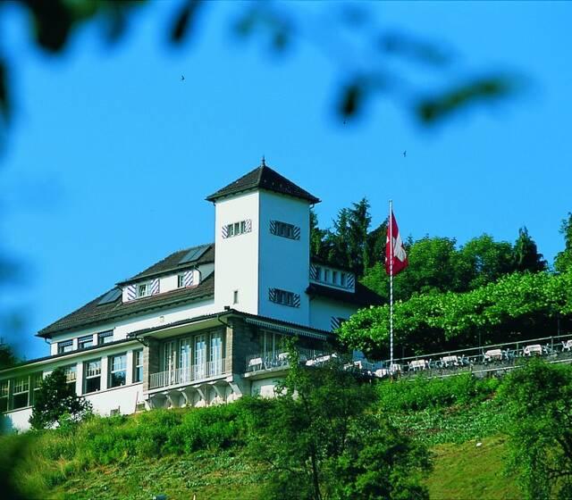 Beispiel: Aussenansicht, Foto: Restaurant Waldmannsburg.