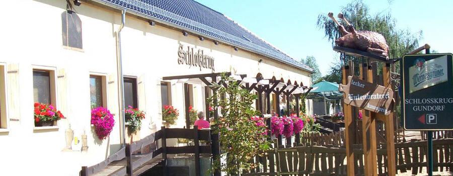 Beispiel: Außenansicht, Foto: Schloßkrug Gundorf.