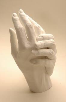 bearbeitete Handskulptur