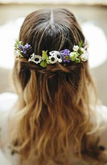 Tocados con flores naturales