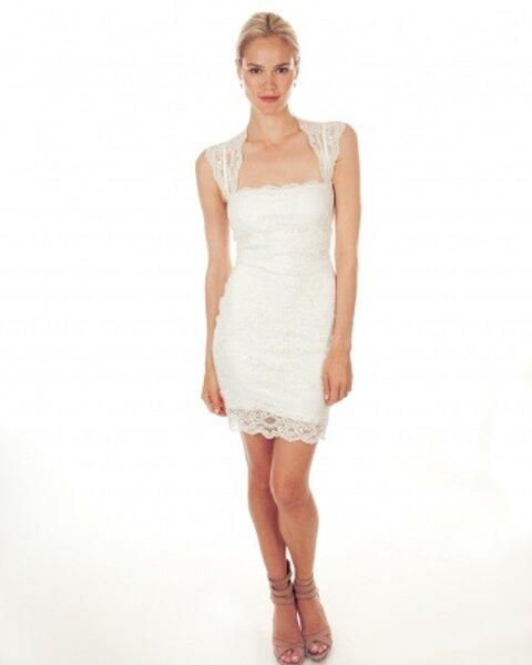Krótka suknia ślubna  z kolekcji Nicole Miller 2013
