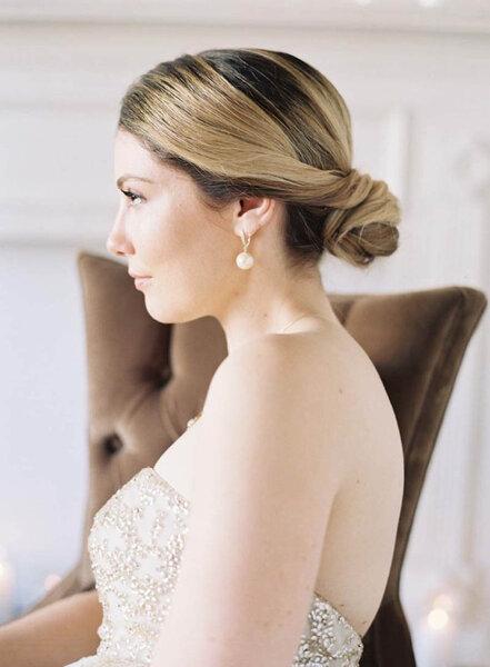Peinado de novia con moño 2017.