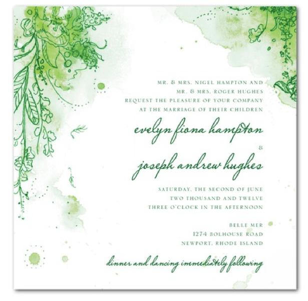 Invitaciones de boda en color verde esmeralda - Foto dive nude ...