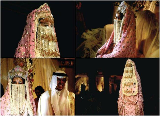 Arabia Saudyjska: kobiety wkładają suknie ślubną zakrywającą twarz i włosy, Foto: Pinterest