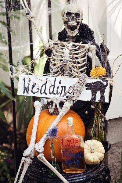 Décoration mariage Halloween