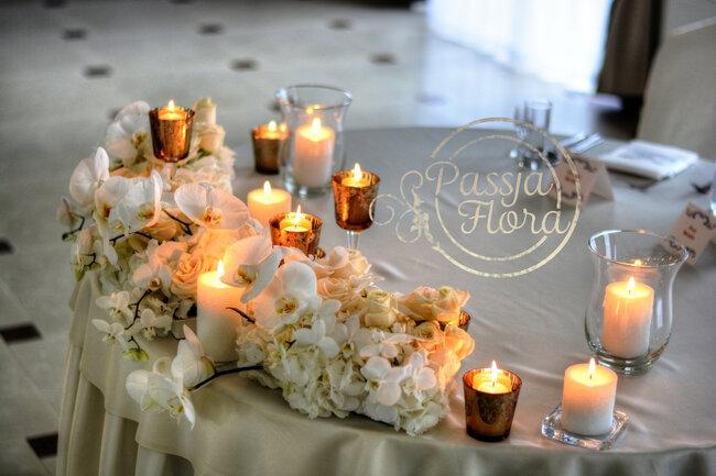 dekoracja stołu młodej pary 1
