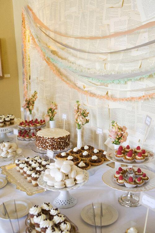 Las 30 mesas de postres m s originales para tu boda for Mesas de boda originales