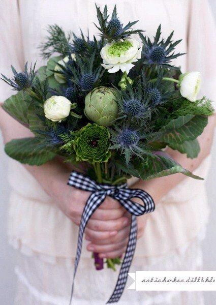 vegetales para armar ramo de flores foto green wedding shoes