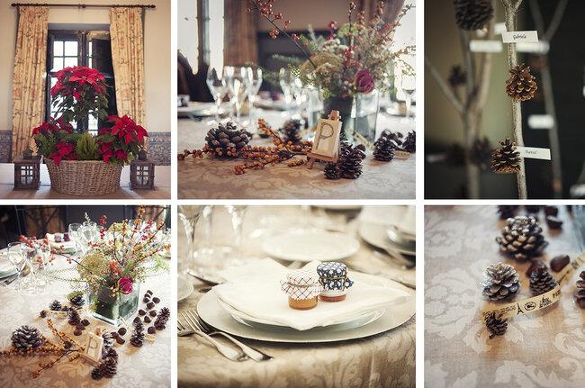 Ideas para decorar las mesas en una boda de invierno.