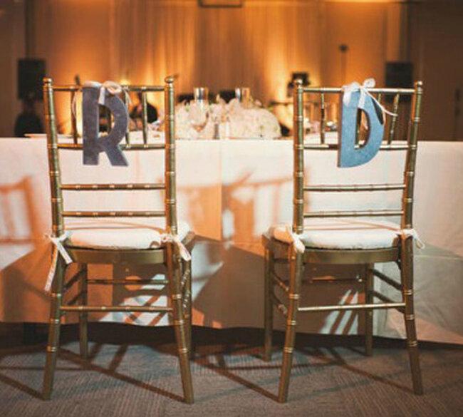 Décoration des chaises de votre mariage