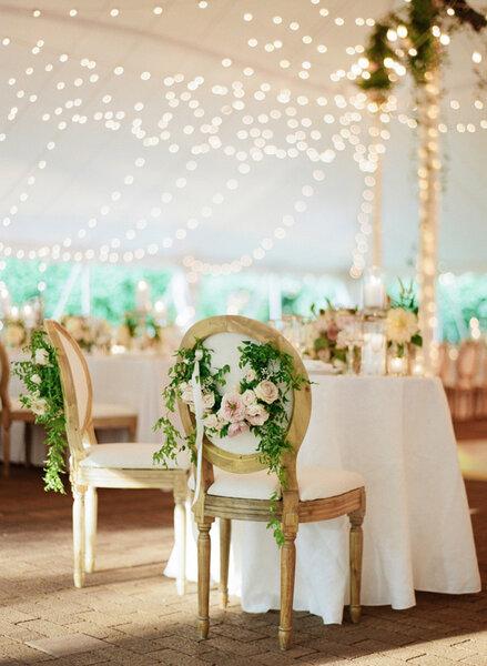 Decoración de sillas de boda 2017.