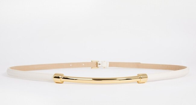 Cinturón de cuero con barra de metal Grayson de Reiss, Asos.