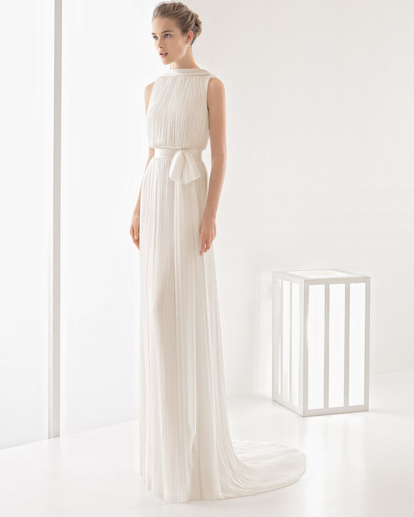 vestidos de novia con falda plisada – vestidos de fiesta