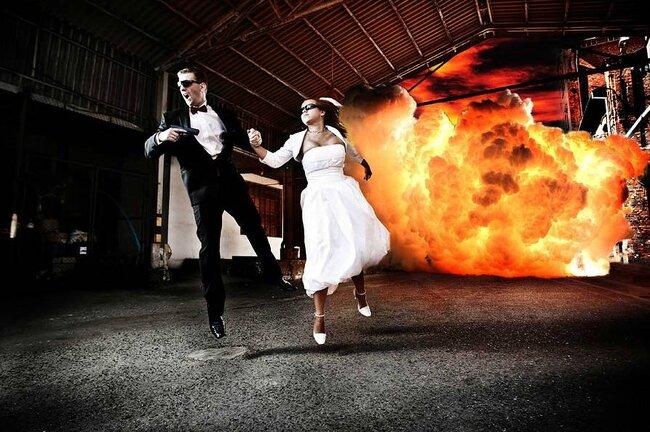 Sesja ślubna inspirowana filmem Mr.& Mrs.Smith