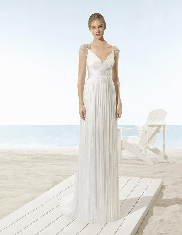 vestido de novia para boda civil