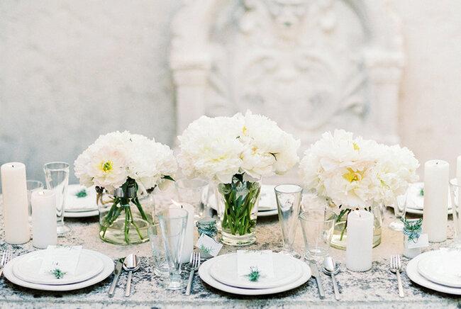 Centros de mesa para boda.