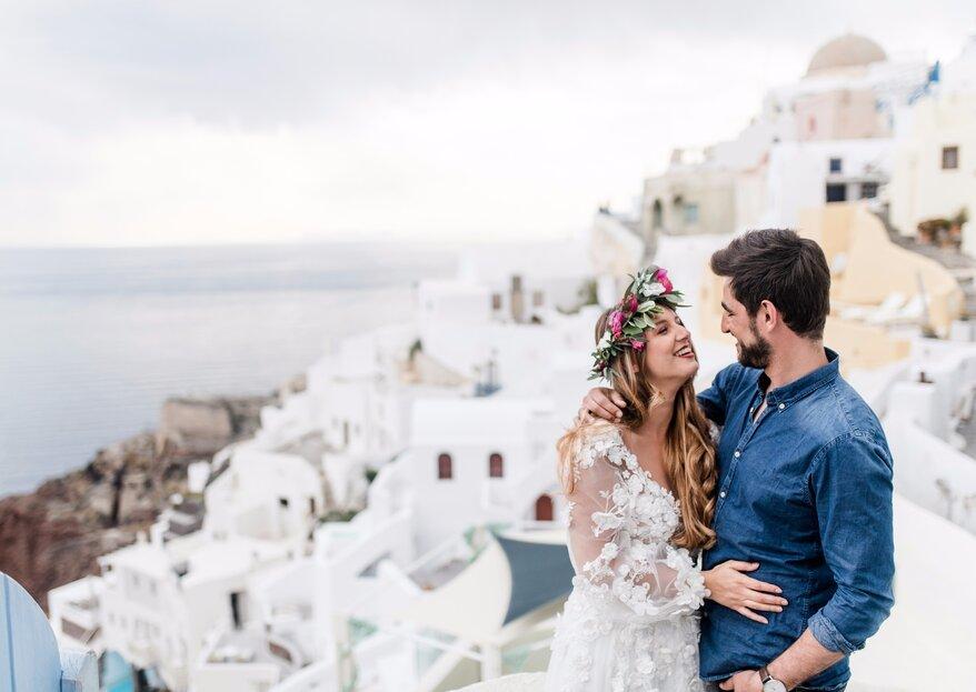 Zauberhafte Hochzeitsinspirationen aus Santorini