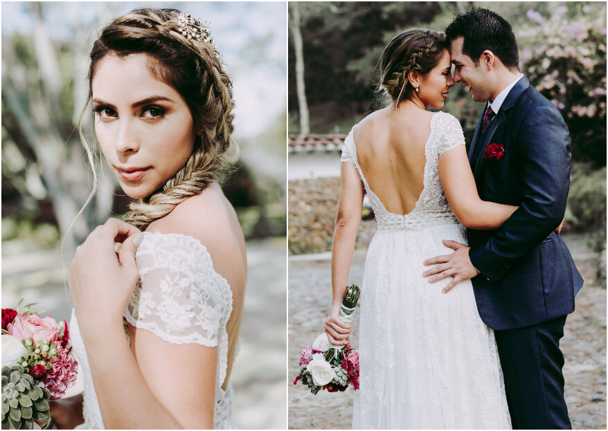 Vestido de novia para matrimonio campestre: las 5 características que debe tener